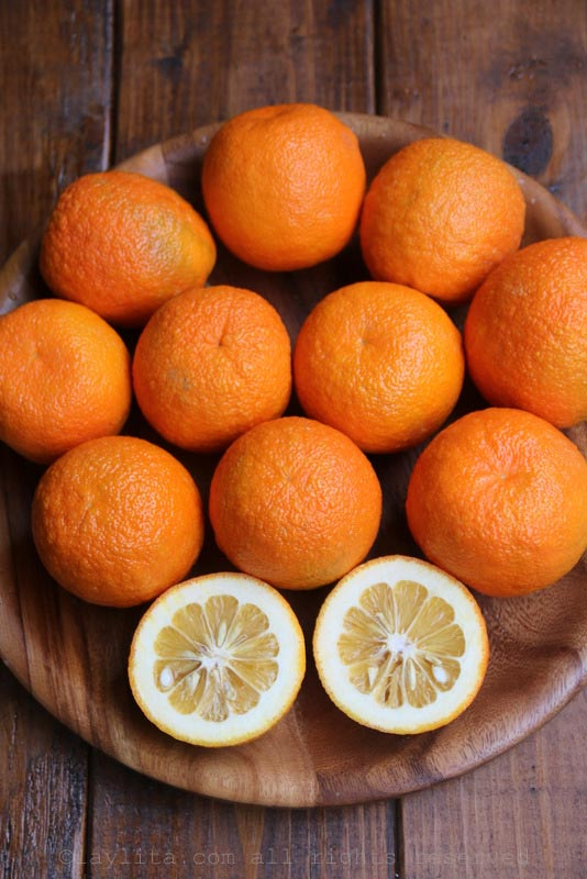 酸橙、苦橙、 塞维利亚橘子或Naranja agria