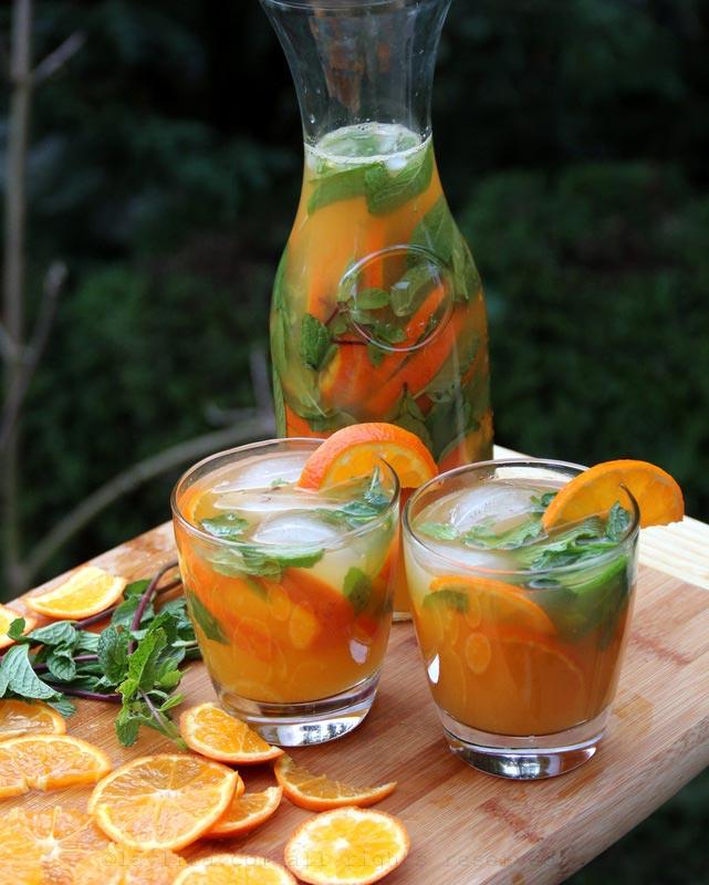 蜜桔或橘子莫希托食谱