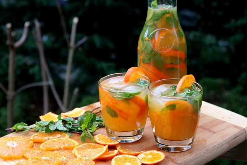 蜜桔或橘子莫希托