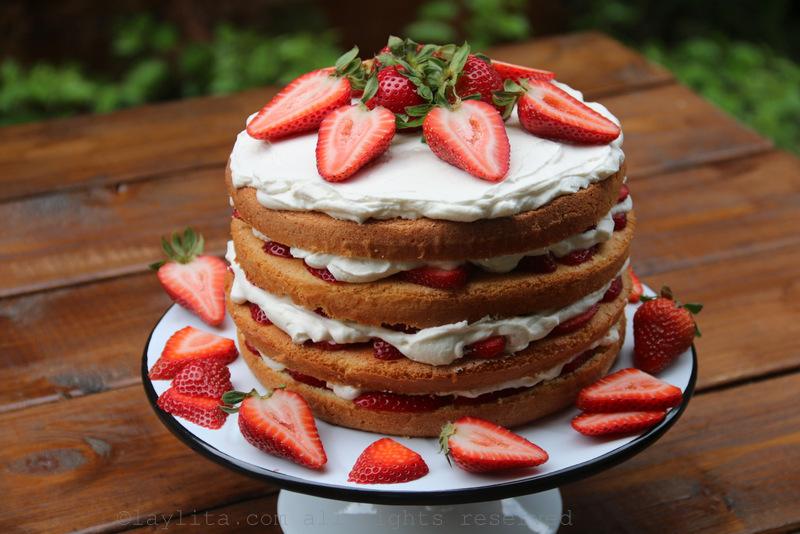 高高的草莓蛋糕食谱