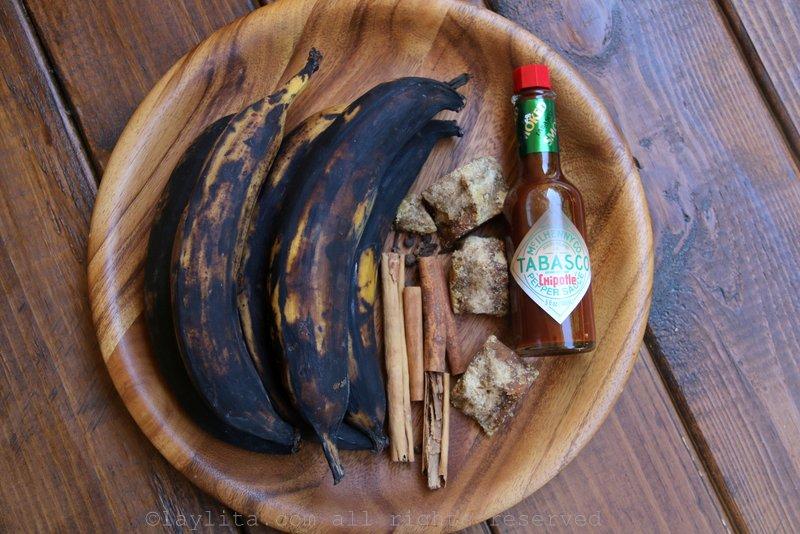 奶香焦糖芭蕉的食材
