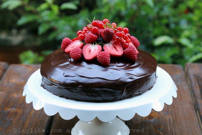 简单巧克力蛋糕的食谱