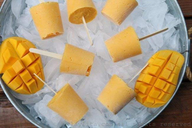 芒果酸奶冰棒