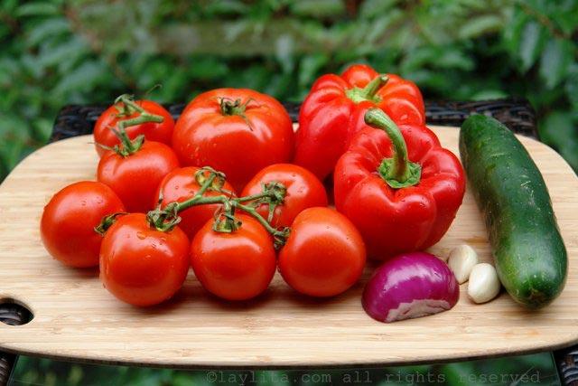 西班牙番茄冻汤的材料