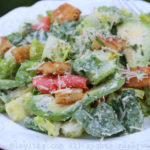 Smoked salmon and avocado caesar salad