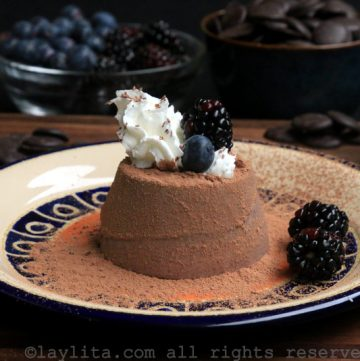 意式黑巧克力奶冻