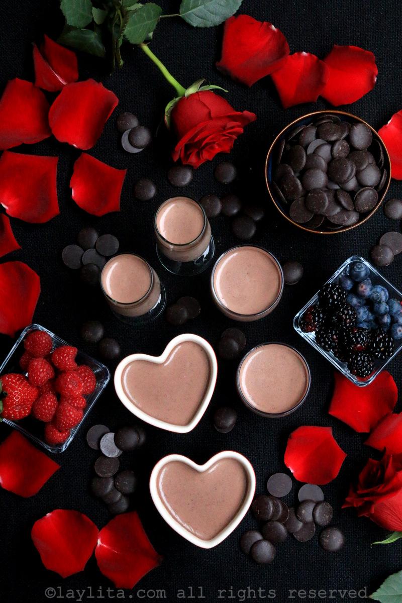 情人节——意式黑巧克力奶冻