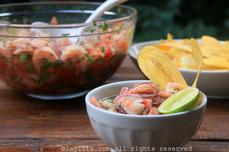 经典厄瓜多尔鲜虾柠檬渍食谱 (shrimp ceviche)